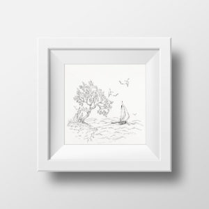 Sailing Ship - Seascape print, Instant download, Marine Art Prints