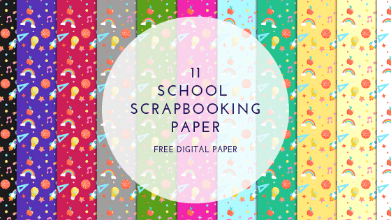 School scrapbook paper - free digital paper
