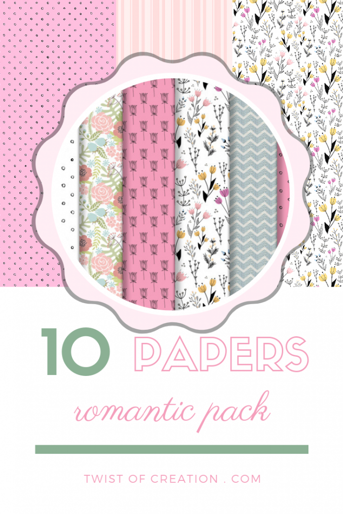 Romantic Paper Pack - Digital Paper Download – Twist of Creation